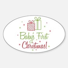 Baby's First Christmas Sticker (Oval)