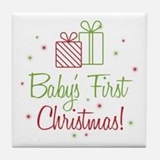 Baby's First Christmas Tile Coaster