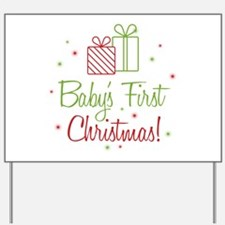 Baby's First Christmas Yard Sign