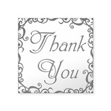 "Thank You Square Sticker 3"" x 3"""