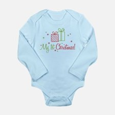 My 1st Christmas Long Sleeve Infant Bodysuit