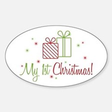 My 1st Christmas Sticker (Oval)