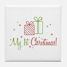 My 1st Christmas Tile Coaster