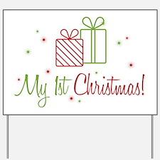 My 1st Christmas Yard Sign