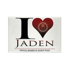 I Heart Jaden Rectangle Magnet
