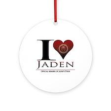 I Heart Jaden Ornament (Round)