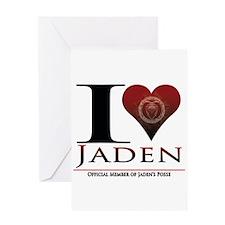 I Heart Jaden Greeting Card