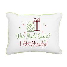 Santa I Got Grandpa Rectangular Canvas Pillow