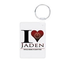I Heart Jaden Aluminum Photo Keychain