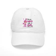 Fights Like a Girl 42.9 Breast Cancer Baseball Cap