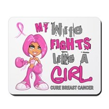 Fights Like a Girl 42.9 Breast Cancer Mousepad