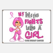 Fights Like a Girl 42.9 Breast Cancer Banner