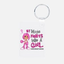 Fights Like a Girl 42.9 Breast Cancer Keychains