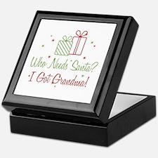 Santa I Got Grandma Keepsake Box