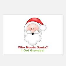 Santa I Got Grandpa Postcards (Package of 8)