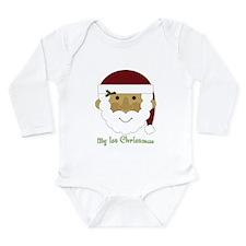1st Christmas Santa Long Sleeve Infant Bodysuit