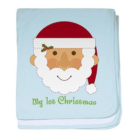 1st Christmas Santa baby blanket