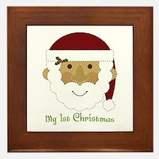 1st Christmas Santa Framed Tile