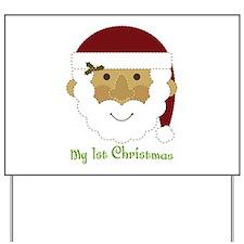 1st Christmas Santa Yard Sign