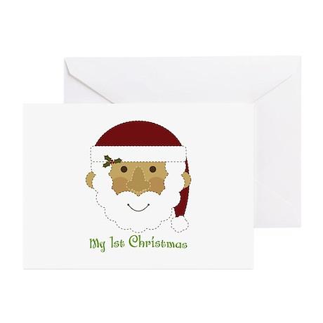1st Christmas Santa Greeting Cards (Pk of 10)