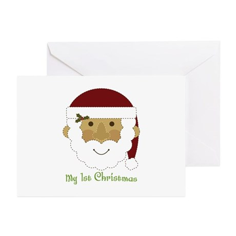 1st Christmas Santa Greeting Cards (Pk of 20)
