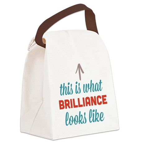 Brilliance Looks Like Canvas Lunch Bag