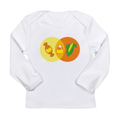 Candy Corn Venn Long Sleeve Infant T-Shirt