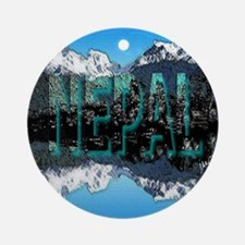 nepal mount everest art illustration Ornament (Rou