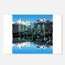 nepal mount everest art illustration Postcards (Pa