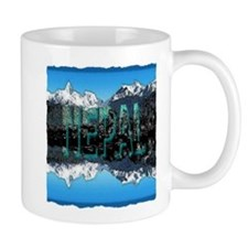 nepal mount everest art illustration Mug