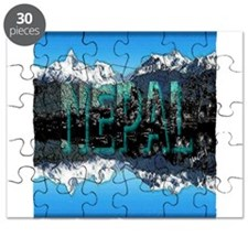 nepal mount everest art illustration Puzzle