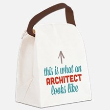 Architect Looks Like Canvas Lunch Bag