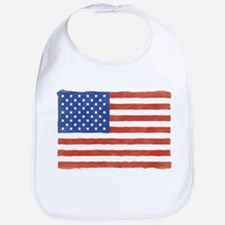 Watercolor USA Flag: Bib