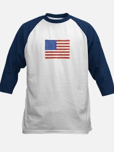 Watercolor USA Flag: Kids Baseball Jersey