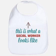 Social Worker Looks Like Bib