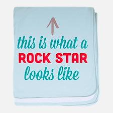 Rock Star Looks Like baby blanket