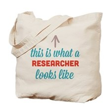 Researcher Looks Like Tote Bag