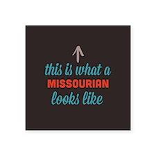"""Missourian Looks Like Square Sticker 3"""" x 3"""""""