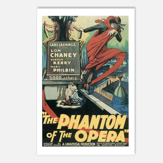 Phantom of the Opera 1925 Postcards (Package of 8)