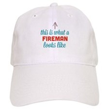Fireman Looks Like Baseball Baseball Cap