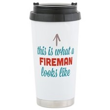 Fireman Looks Like Travel Mug