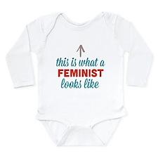 Feminist Looks Like Long Sleeve Infant Bodysuit
