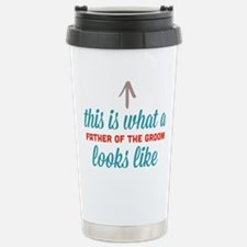 Father Of The Groom Stainless Steel Travel Mug