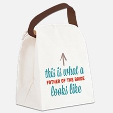 Father Of The Bride Canvas Lunch Bag