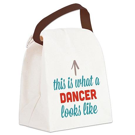 Dancer Looks Like Canvas Lunch Bag