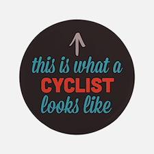 "Cyclist Looks Like 3.5"" Button"