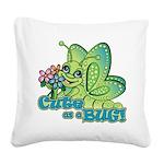 Cute Bug Square Canvas Pillow
