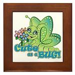 Cute Bug Framed Tile