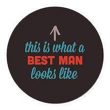 Best Man Looks Like Round Car Magnet