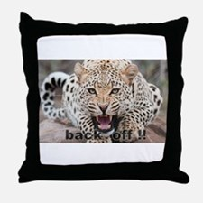 angry cheetah Throw Pillow